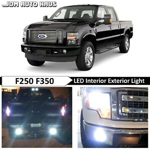 White Interior Exterior Led Lights Bulbs Package Fits 1999 2010 Ford F250 F350