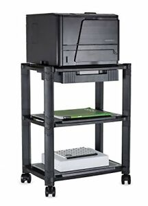 Mount it Printer Stand With Wheels And Drawer Rolling Printer Cart Height Adj