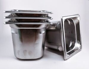 4 Vollrath Super Pan 3 1 6 Size X 6 Prep Steam Buffet Stainless ships Free