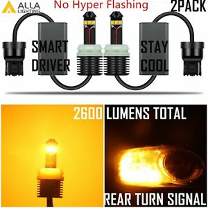 Alla Lighting Led 7440na Turn Signal Light Bulb Yellow Blinker No Hyper Flashing