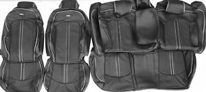 Fits 2015 2017 Hyundai Sonata Se Sport Black Leather Upholstery Seat Cover Set