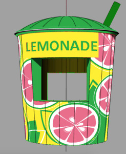 Inflatable Lemonade Cup Concession Stand Pink Version