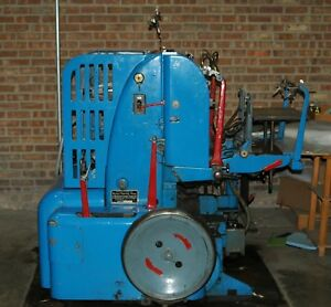 Miehle Verticle V50 Cylinder Press Come With Tools And 2 Chases