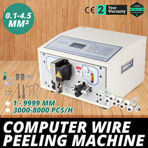 Computer Wire Peeling Stripping Cutting Machine Mechanical 100mm h Swt508 sd