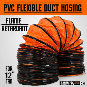 25ft Pvc Flexible Duct Hosing For Utility Blower 12 Inch Portable Fan Ventilator