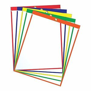 Job Ticket Holders 9 x12 Pack Of 30 Top loading With Eyelet
