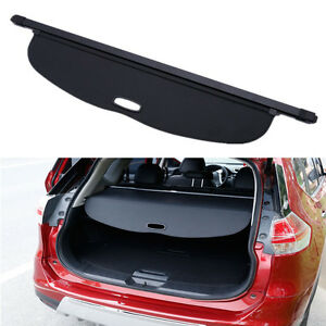 1x Black Trunk Sheld Shade Cargo Cover For Nissan Rogue Sv X trail T32 2014 2015