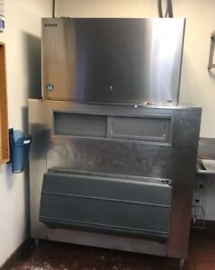 Hoshizaki Km 1601srh Commercial Ice Maker With Bin And Condenser