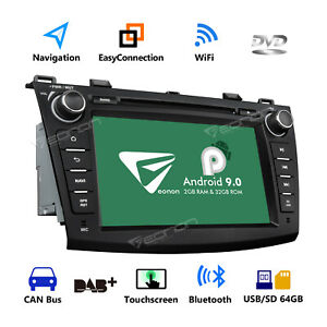 Quad Core Android 8 1 8 Car Radio Gps Navi Dvd Stereo Touch Screen For Mazda 3