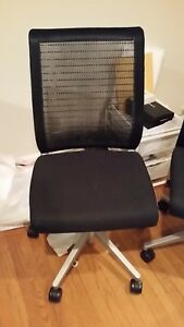 Executive Chair By Steelcase Think Black Color Fabric Mesh Back