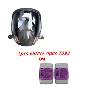 3m 6800 7093 5pcs Set Painting Spraying Reusable Respirator Half Face gas Mask