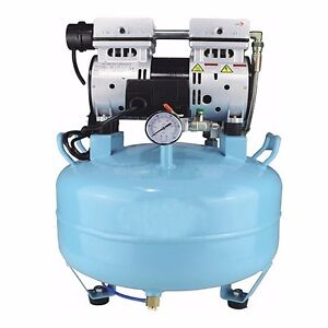 Dental Medical Air Compressor Quiet Noiseless Oil Free Oilless 550w F chair Fast