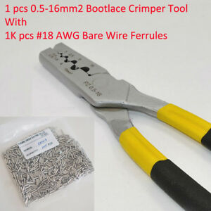 Pz0 5 16 0 5 16mm2 Crimping Tool Bootlace Ferrule And 1k 18 Awg Wire Ferrules