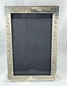 Gorgeous Etched Floral Sterling Frame 5 3 4 X 8 1 4 For A 5 X7 Photo