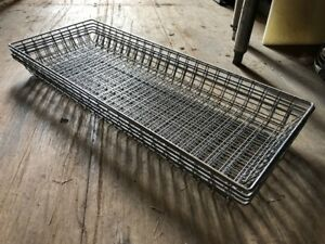 5 Mesh Donut Frying Glazing Screens Doughnut Rack Basket Wire 26 5 X 10 5 Used