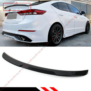 For 2017 18 Hyundai Elantra Painted Glossy Black H Style Trunk Lid Spoiler Wing