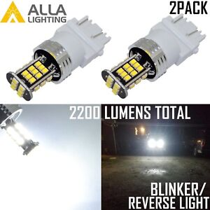 Alla Lighting Led 3157 Back Up Reverse Light Bulb Turn Signal Blinker Lamp White