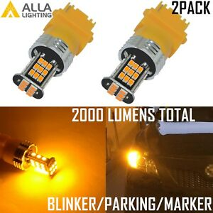 Alla Lighting Led 3157 Turn Signal Blinker Parking Side Marker Light Bulb Yellow