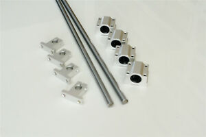 8mm 600mm Bearing Block Optical Axis Linear Rail Shaft Rod With Guide Support