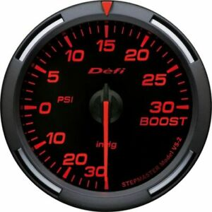 Defi Df Racer 60mm Psi Turbo Boost Gauge Red Df11502
