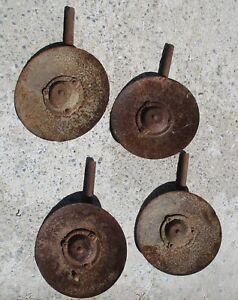 4 Old International Harvester 12 Cultivator Plow Disc