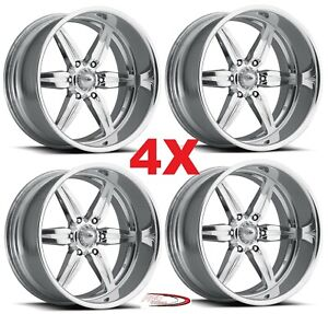 Pro Wheels Spitfire 6 20 Polished Aluminum Billet Forged Rims Intro Foose Bon
