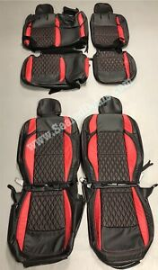 Jeep Wrangler Jl Red Diamond Katzkin Leather Seat Covers Sahara Or Sport