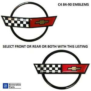 Corvette C4 84 90 Nose Hood Emblem Gas Lid Emblem Or Both