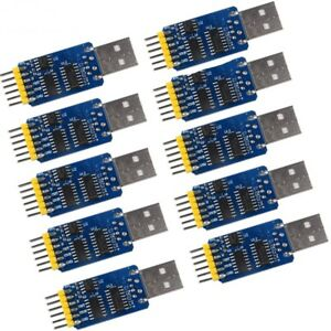 10pcs 6 In 1 6pin Cp2102 Serial Module Usb Ttl Rs232 Rs485 Rs232 3 3v 5v