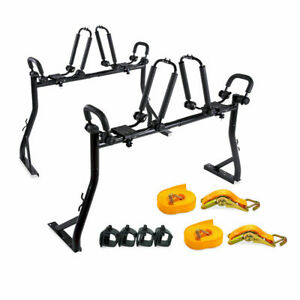 Pickup Truck Ladder Rack Kayak Carrier Canoe Rack W 8 Clamps 2 Ratchet Strap