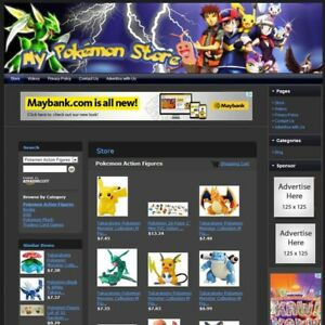 Pokemon Toys Store Affiliate Website Business For Sale Free Domain Hosting