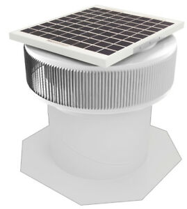 Aura Vent Solar Fan Retrofit 12 Inch Exhaust Roof Ventilator 10w 17v White