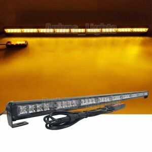 39 36w Led Traffic Advisor Warn Directional Arrow Strobe Light Bar Amber Yellow