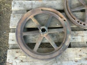 1 1 2 Hp Ihc Deering Type M Magneto Ignition Side Flywheel Hit Miss Gas Engine