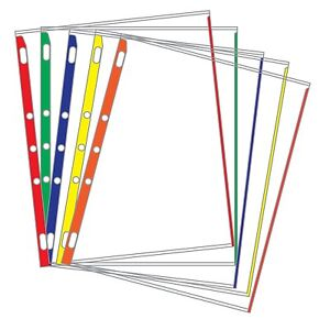 Sheet Protectors Color coded Edges 8 5 X 11 Pack Of 100