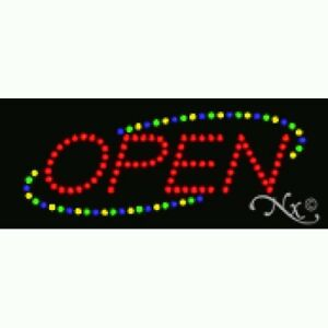 Brand New Red green blue yellow Animated 1 4in Led Open Sign