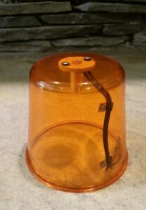 Vintage Amber Beacon Dome Lens Classic Tow Truck Roadside Construction
