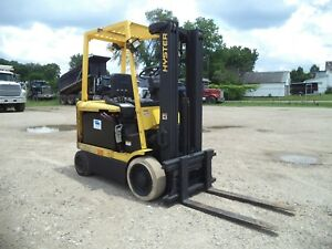 2000 Hyster E50xm 5 000 5000 Cushion Tired 36v Electric Forklift Side Shift