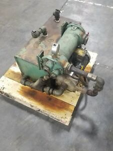 15 Gallon Hydraulic Power Unit 1 5 Hp Baldor 3 Phase Worthington Pump 3886sr