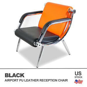 Waiting Room Office Chair Reception Pu Leather Airport Guest Sofa Seat Modern