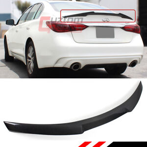 For 2014 2020 Infiniti Q50 Jdm M4 Style Real Carbon Fiber Trunk Lid Spoiler Wing