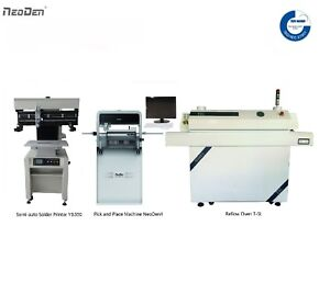 Smt Pick N Place Machine With Vision Neoden4 solder Printer reflow Oven 0201 Bga