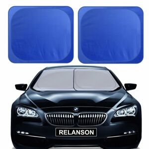 Car Windshield Sunshade 2 Pieces Of Separate Foldable 35 X31 Car Sun Shade