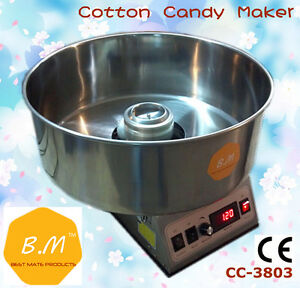 B m New Cotton Candy Floss Maker Machine Electric Commercial Party Store Booth