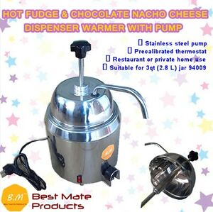 B m Gm 280 Hot Fudge Chocolate Nacho Cheese Dispenser Warmer With Pump 2 8l Can