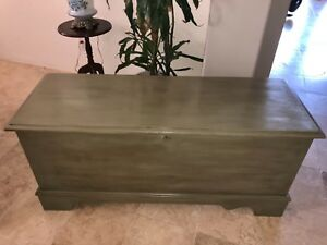 Cedar Chest Lane Chateau Gray Chalk Paint With Clear And Dark Wax Refinished