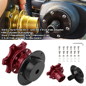 Aluminum Red Steering Wheel Detachable Quick Release Adapter Hub For Mini