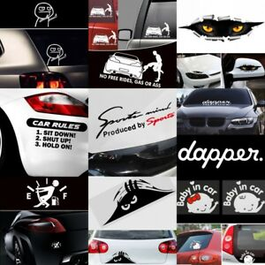 Lots Cool Funny Auto Decal Slammed Jdm Car Window Decor Vinyl Decal Sticker
