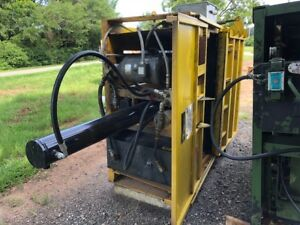 Gpi Vertical Cardboard Compactor Compacting Recycle Baler Baling Machine 208v 3p