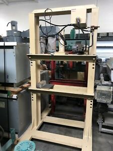 Custom H frame Electric Hydraulic Press 36 Btwn Uprights